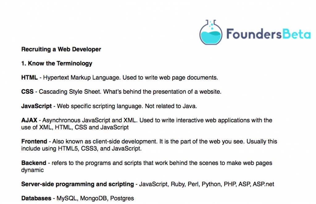 Hiring a Web Developer