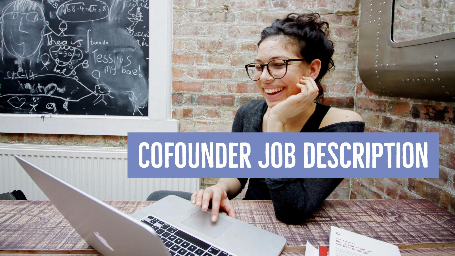 Cofounder Job Description
