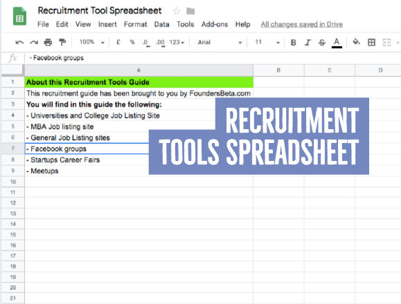 Recruitment Tools