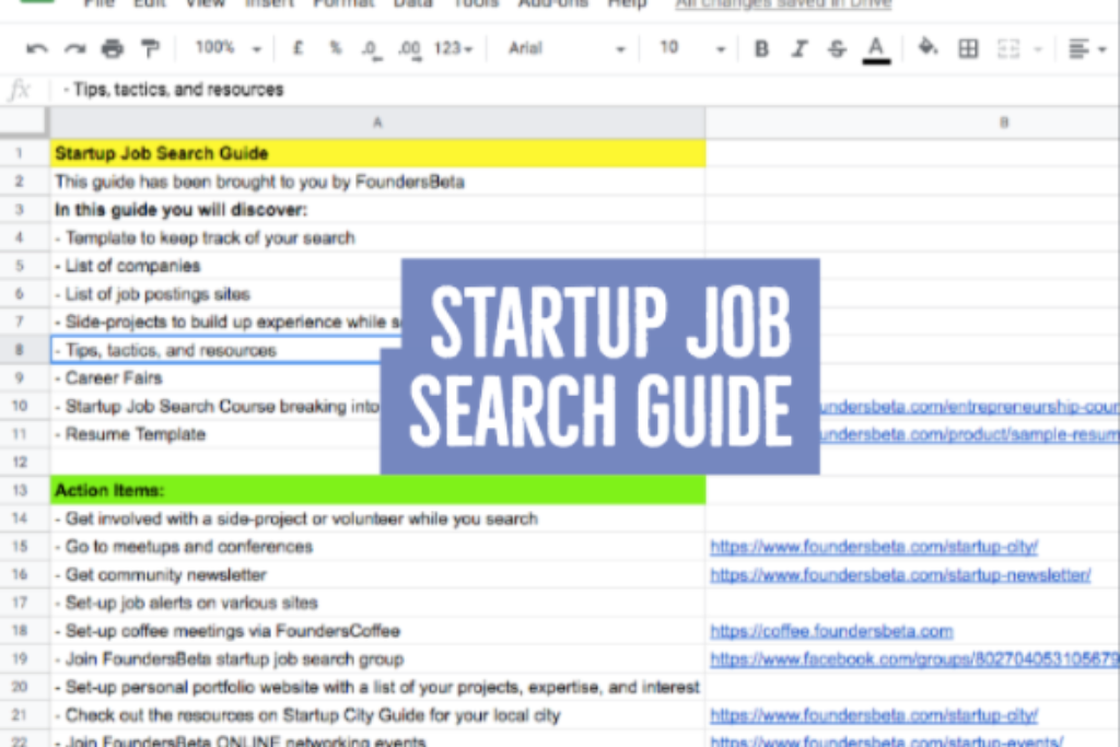 Startup Job Search
