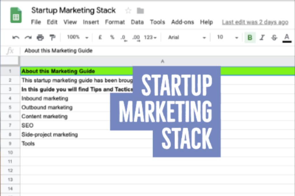 Startup Marketing Stack
