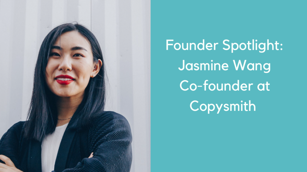 AI Copywriting Tool Jasmine Wang Copysmith